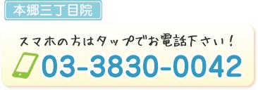 電話番号:0338300042
