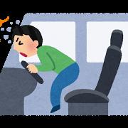 シートベルト未着用時の事故のイラスト