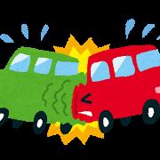 交通事故のイラスト「玉突き事故」