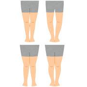 いろいろな脚の形状のイラスト